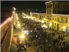 Crowds in the Street During the Holiday Stroll