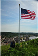 American Flag Flying at the Top of New Flag Pole