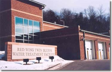 Image of Red Wing Twin Bluffs Water Treatment Plant in winter
