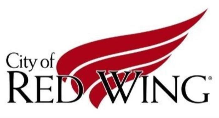 Image of a wing with the words City of Red Wing over it