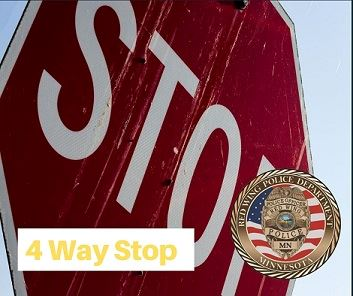 "Image of a stop sign with the words R Way Stop"" and the RWPD seal"