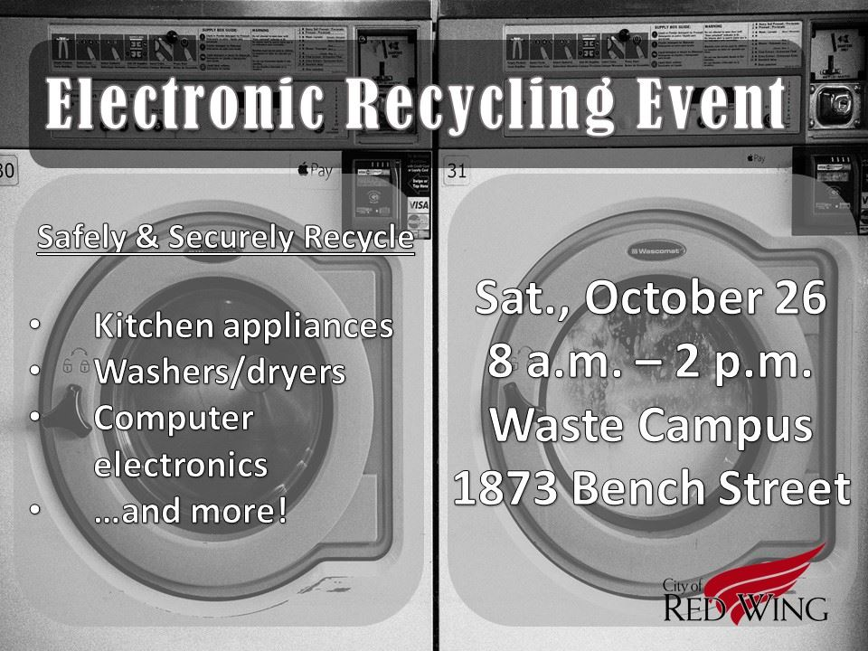 Flyer for the 2019 Electronic Recycling Event