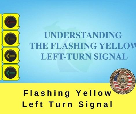 "Image of traffic light next to the words ""Understanding the flashing yellow left-turn signal"""