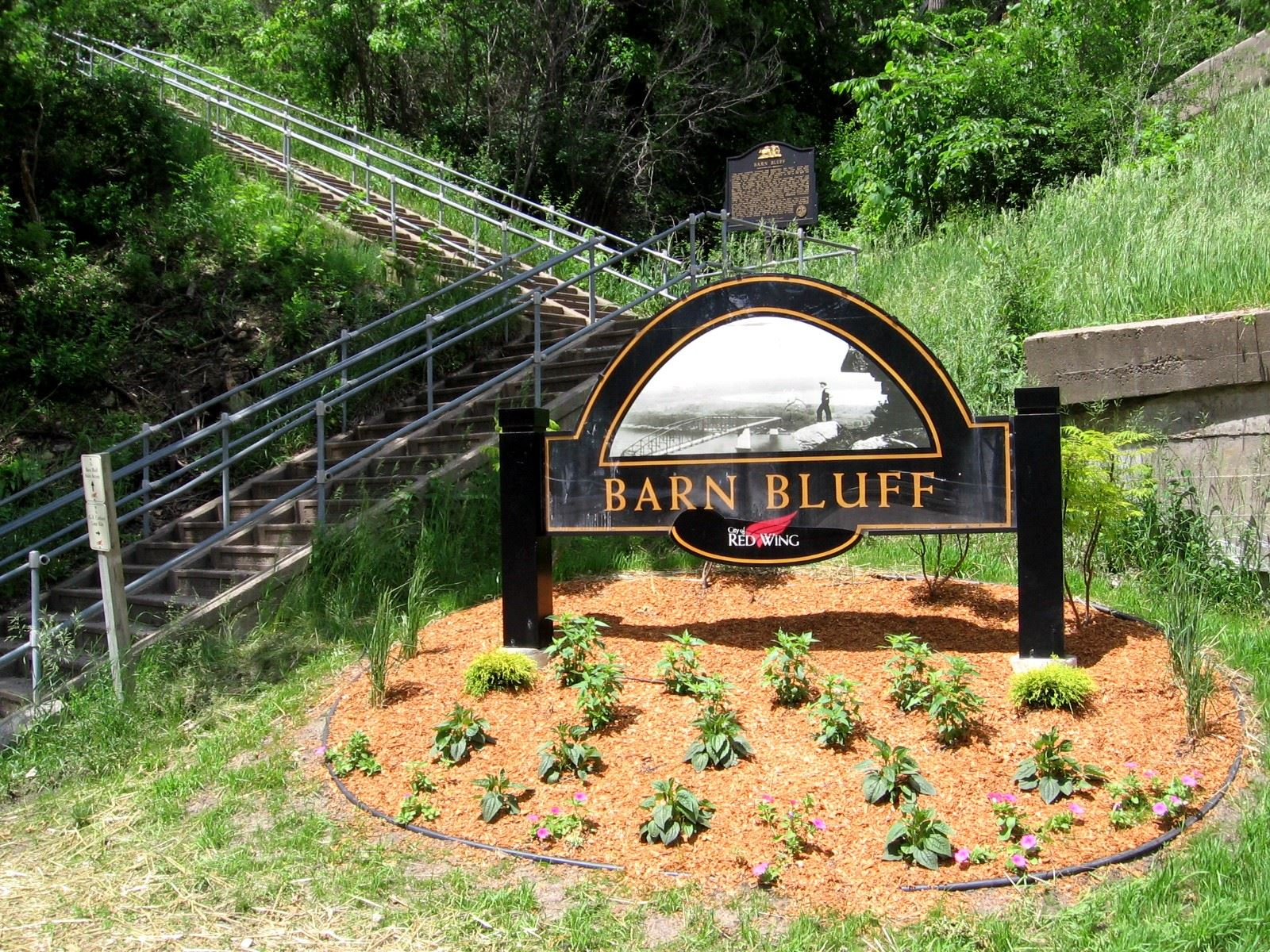 Barns Bluff Sign
