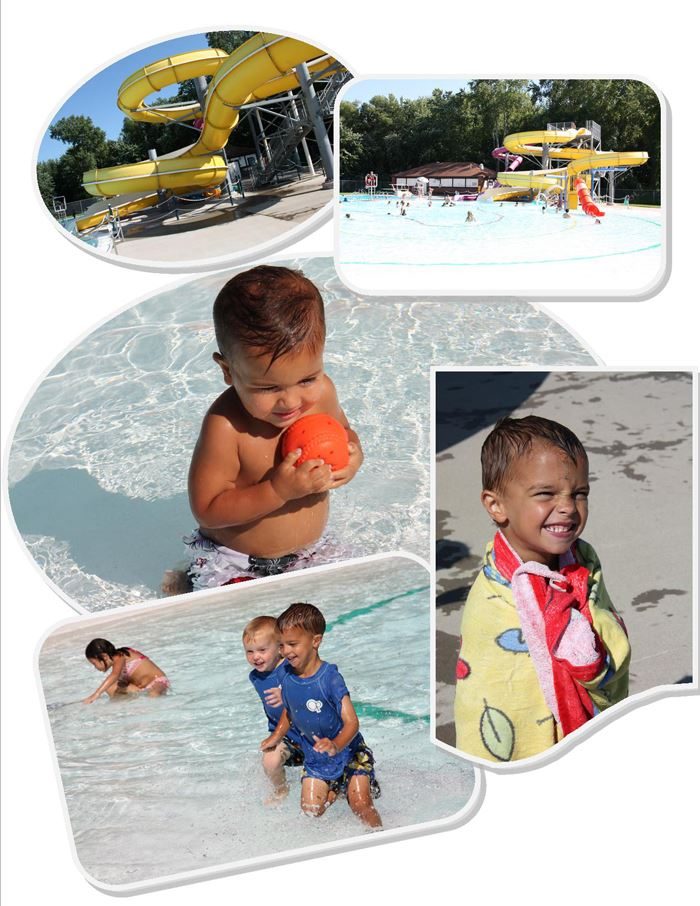 Collage of Photos from Red Wing Water Park