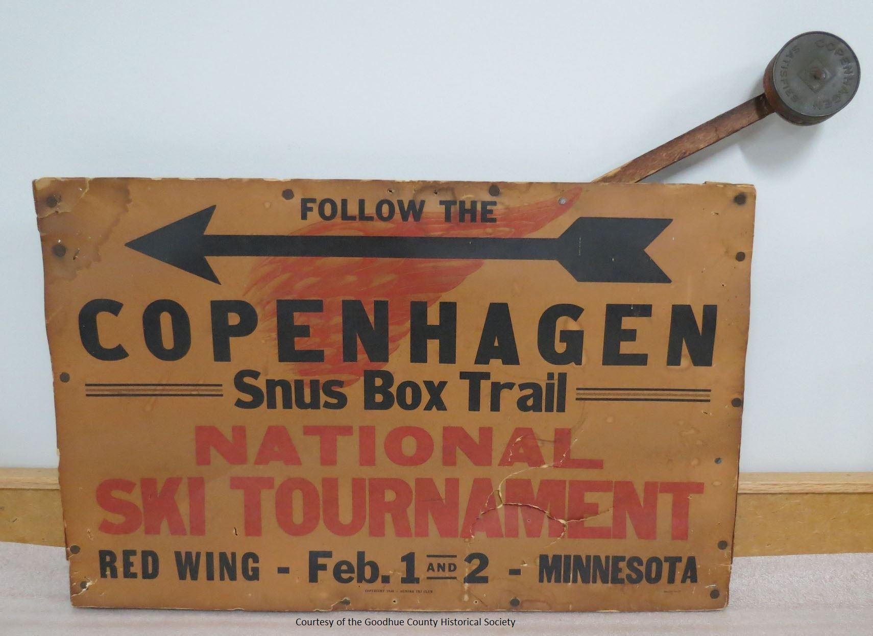 Follow the Copenhagen Snus Box Trail National Ski Tournament Sign