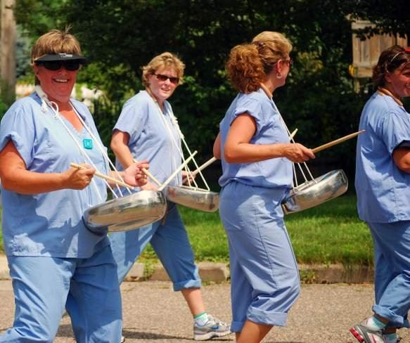 Nurses Playing with Chamber Pots