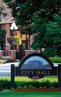 City Hall sign outside