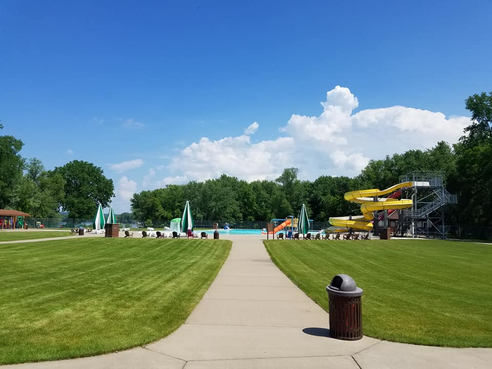 Photo of the Red Wing Water Park in the summer.