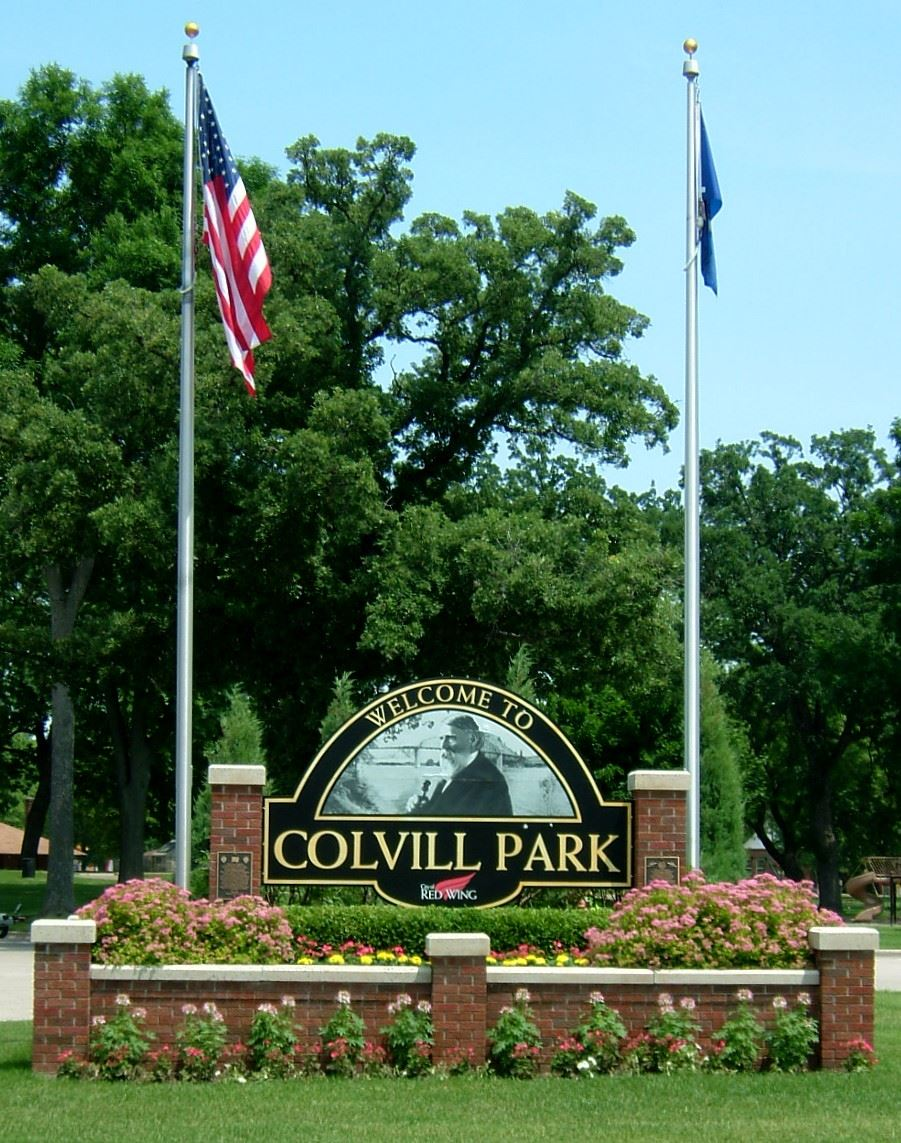 Colvill Park Welcome Sign