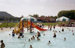 People Enjoying Colvill Park Swimming Pool